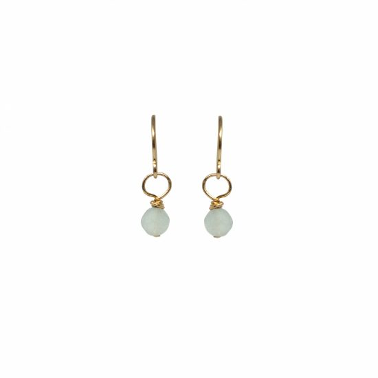 Aquamarine Gemstone Drop Earrings