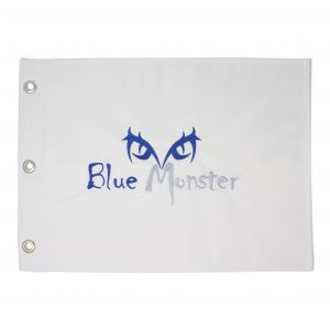 Blue Monster Pin Flag