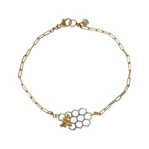 Honeycomb Bracelet w/ Bee
