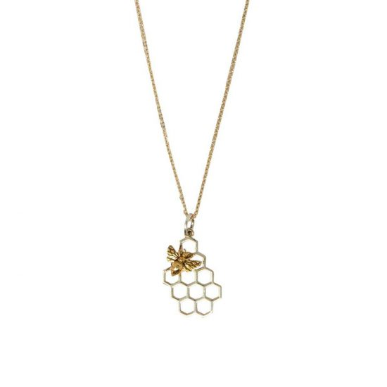 Honeycomb Necklace w/ Bee