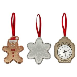 Leather Ornament Trio