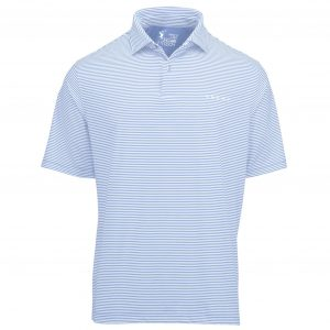 Owens Stripe Tech Polo - Bluff