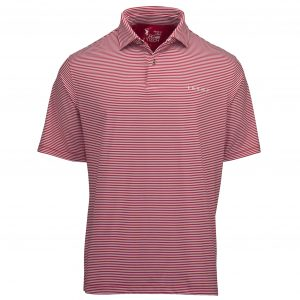 Owens Stripe Tech Polo - Red