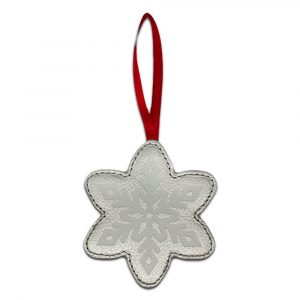 Snowflake Leather Ornament
