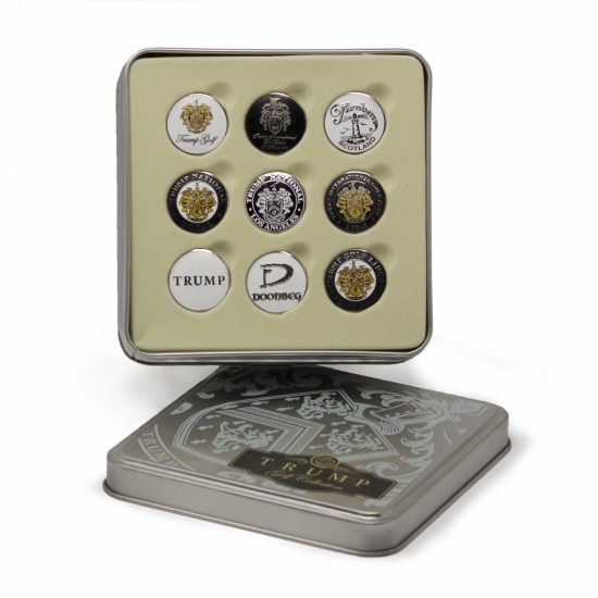 Trump Golf Ball Marker Collection Tin